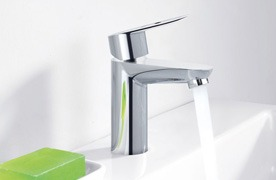Accessories & Plumbing Fixtures Silver Faucet with White Granite