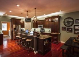 Dark Kitchen Cabinets and Dark Countertop