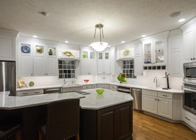 Gilmans Kitchens and Baths White Kitchen and Light Cabinets