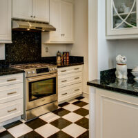 Black and White San Francisco Kitchen
