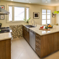 Transitional Eclectic Kitchen Cabinet