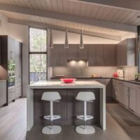 2019 Bay Area Remodeling Award Gray Kitchen with Chairs