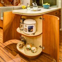 Eclectic Residential Remodels Storage in Kitchen