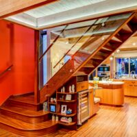 Custom Wood and Glass Staircase