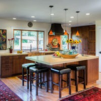 Touches of Rustic Kitchen Cabinets