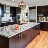 Traditional Kitchen Dark Kitchen Cabinet
