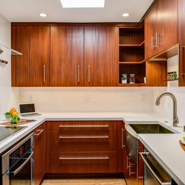 Gilmans Kitchens and Baths Contemporary Brown Kitchen Cabinets View