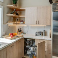 Dewils Light Kitchen Cabinets with Light Countertops