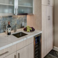 Dewils Light Kitchen Cabinets and Countertop