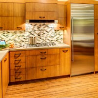 Dura Supreme Light Brown Kitchen Cabinets and Light Countertop