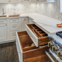 Brookhaven Wood Kitchen Cabinets with Drawers